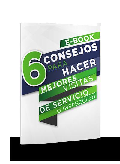 Icono ebook consejos para hacer visitas de servicio